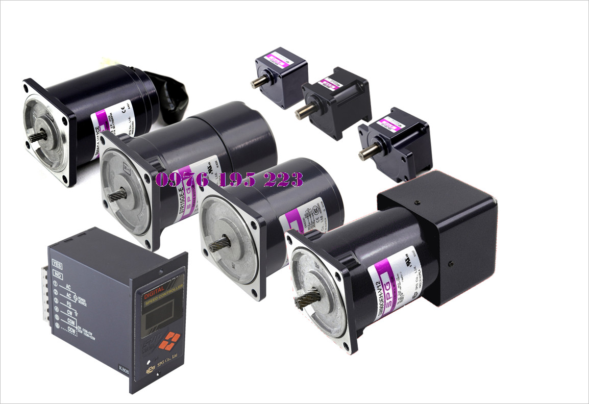 Electromagnetic brake motor gearhead for Speed control of induction motor